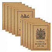 10 x WW1 Replica Great War ID Card - Teaching Aids or Props