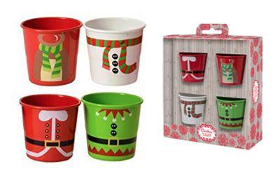 Eddingtons Christmas Egg Cups, Set of 4