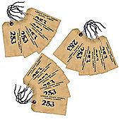 15 x WW2 Replica Evacuation Evacuee Tag - Teaching Aids or Props