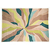 Infinite Splinter Oblong Teal/Green Rug - 160X220 cm