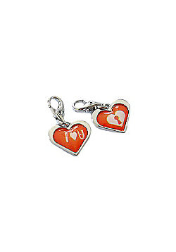 I Love You Red Heart Clip on Charm