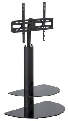 MMT CB35 2 Shelf Black TV Stand with Bracket for up to 50 inch TVs