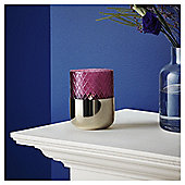 Fox & Ivy Etched Tealight Holder Pink