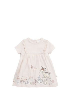 Disney Bambi Dress with Integrated Bodysuit Baby Pink 3-6 months