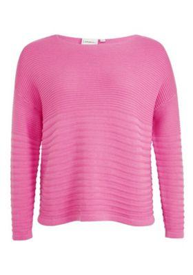 Junarose Ripple Knit Plus Size Jumper 20-22 Pink