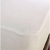 Dreamscene Terry Towelling Waterproof Mattress Protector - White