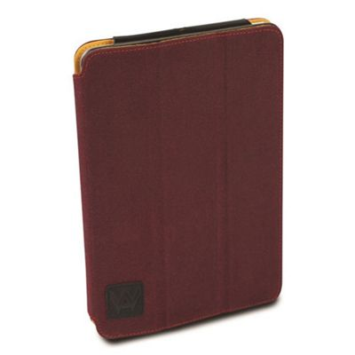 Krusell Textured Canvas Leather Flip Case Cover│Water Splash Proof│iPad Air- Red