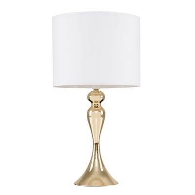 Faulkner 57cm Spindle Touch Table Lamp - Gold & White