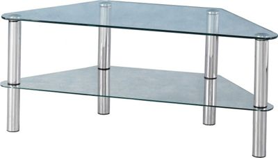 Home Essence Melbourne TV Stand - Clear Glass