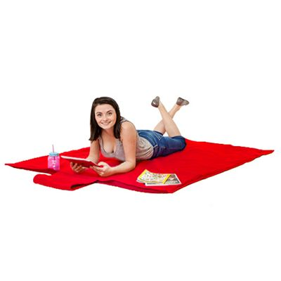 Gardenista Red Water Resistant Roll Up Picnic Mat with carry Handle