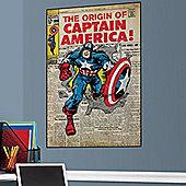 Comic Book Cover Captain America Wall Stickers
