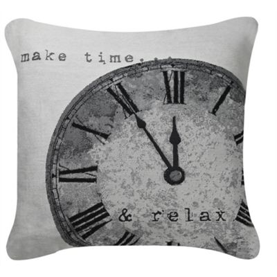 Time Cushion - Black & White