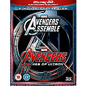 Avengers Age Of Ultron/Avengers Assemble 3D Blu-ray