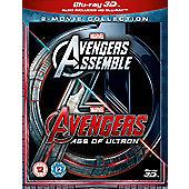 Avengers Age Of Ultron/Avengers Assemble 3D Blu-ray