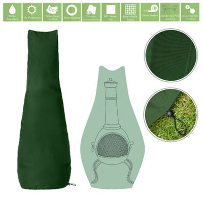 Green Water Resistant Garden Accessories Cover Protector for Chimnea