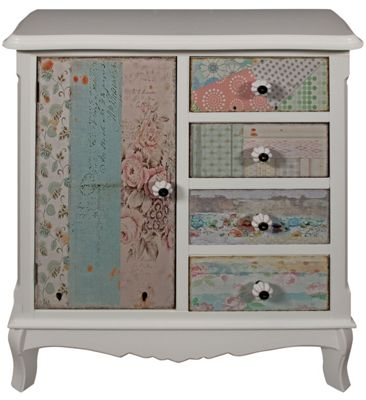 Chloe 1 Door 4 Drawer Cupboard
