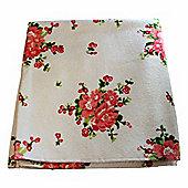 Homescapes Floral Printed Cream Bath Towel 100% Cotton