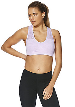 F&F Active Space Dye Light Impact Crop Top - Lilac