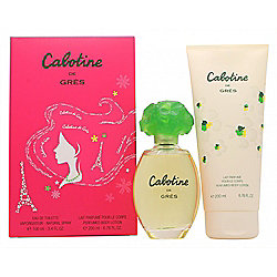Gres Parfums Cabotine Gift Set 100ml EDT + 200ml Body Lotion For Women