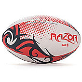 Optimum Razor Rugby League Union Ball Black/Red/White - Size 5