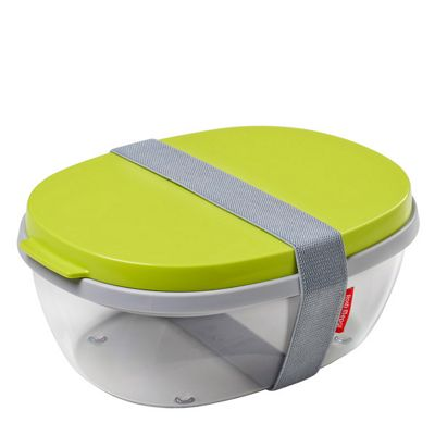 Rosti Mepal Ellipse Duo Salad Box, Lime