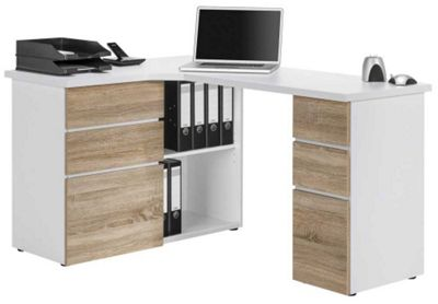 Buy maja 9543 sonoma oak corner computer desk from our office desks tables range tesco - Tesco office desk ...