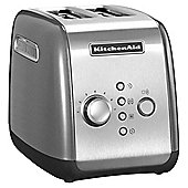 5KMT221BCU 1100w 2 Wide Slot Toaster & 7 Browning Settings in Silver