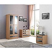 Monza Bedroom Trio Set - Grey & Oak