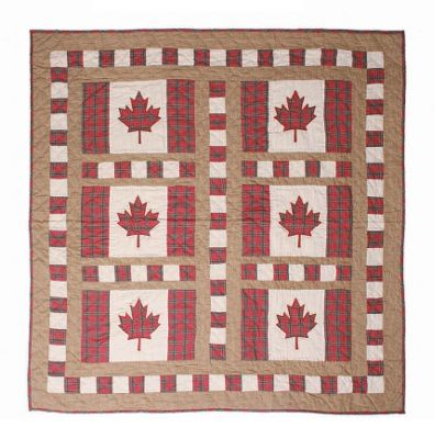 Woven Magic Canadian Flag Crib Throw