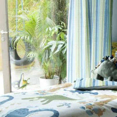 Catherine Lansfield Kids Dino Pencil Curtains 66x72 Inches (168x183cm)