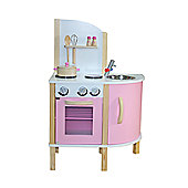 "Liberty House ""Little Chef"" Contemporary Wooden Toy Kitchen - Pink - with accessories"