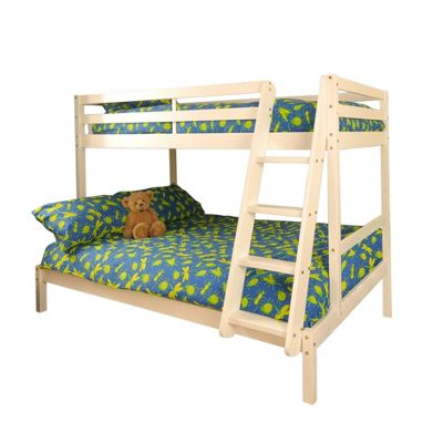 Comfy Living 3ft Single & 4ft Small Double Children's Eco Triple Bunk Bed in White