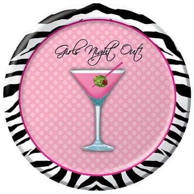 Girls Night Out Paper Plates 17cm