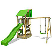 Fatmoose MagicMarket XXL climbing frame With Apple Green Slide