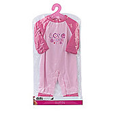 Dolls World 20cm Outfit - Love & Peace Baby Grow