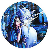 Solace, Blue Unicorn Wall Clock