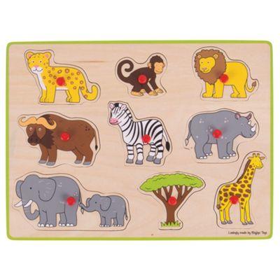 Bigjigs Toys Chunky Lift Out Puzzle - Safari