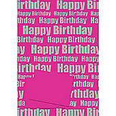 Happy Birthday Pink 2 Sheet 2 Tag Pack