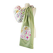 Palm and Pond Ring Sling Baby Carrier - Funky Letters