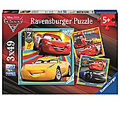Disney Pixar Cars 3 3x49 Piece Jigsaw Puzzle Game