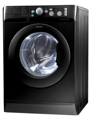Indesit Innex Washing Machine, BWD 71453 K UK, 7kg, 1400rpm - Black