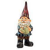 Large Traditional 39cm Garden Gnome Ornament Statue with Red Hat