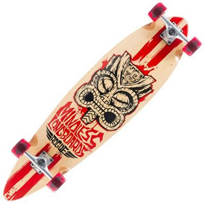 Mindless Longboards ML1120 Natural/Red Tribal Rogue II Complete Longboard