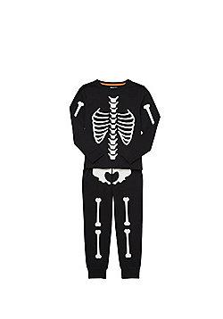 F&F Skeleton Glow in the Dark Pyjamas - Black