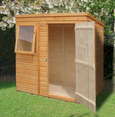 6X4 Pent Shed In Shiplap By Finewood