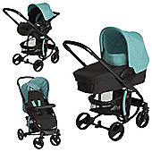 Hauck Miami 4S Trio Set Travel System - Caviar Petrol