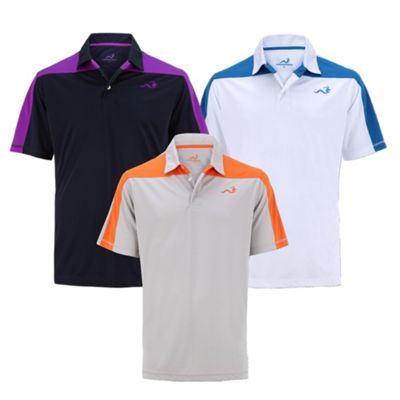 Woodworm Golf Block Panel Mens Golf Polo Shirts 3 Pack M