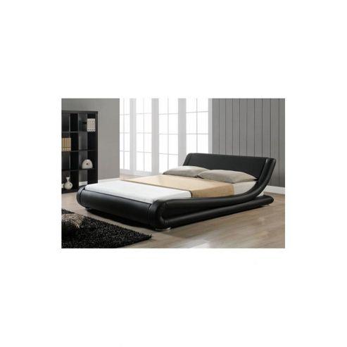 Alpha furniture Milano Italian Bed Frame - Black - Double (4' 6