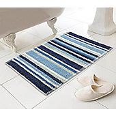 Country Club Bathmat Stripe Blue 50 x 80 cm