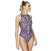 Zoggs Modern Aztec High Front Swimsuit - Multi